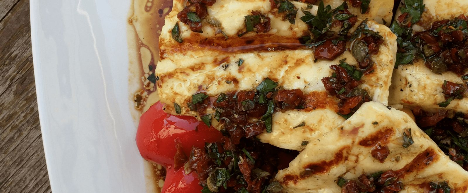 Grilled Halloumi and Peppers