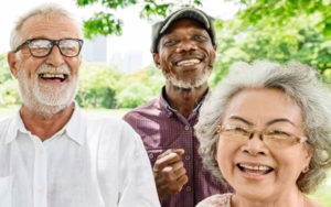 Group of older men and women laughing