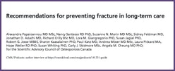 2015 Recommendations for Fracture Prevention in Long-Term Care