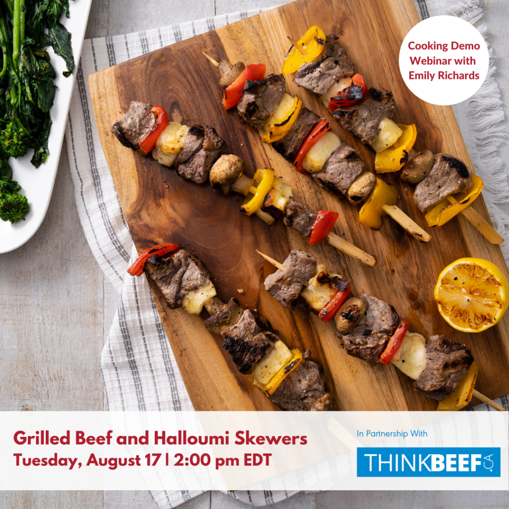 Grilled Beef and Halloumi Skewer Webinar