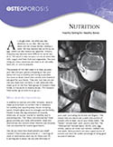 Osteoporosis Nutrition