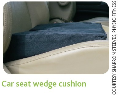 Car seat wedge cushion