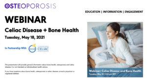 Celiac Disease and Bone Health webinar graphic