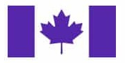 Canada flag in purple