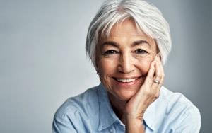 Portrait of older woman smiling