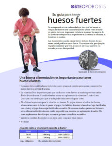 Spanish Your guide to strong bones