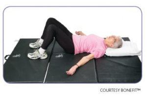 Older woman lying down
